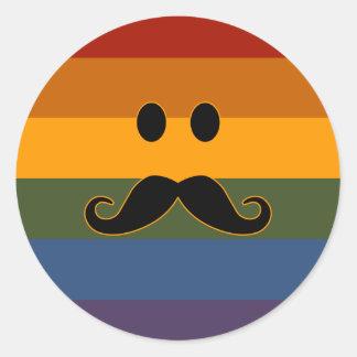 Mustache Pride custom stickers