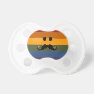 Mustache Pride pacifier