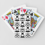 Mustache Print Bicycle Playing Cards