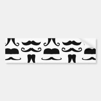 Mustache Print Bumper Sticker