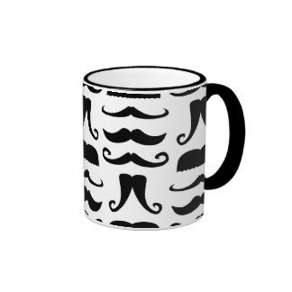 Mustache Print Coffee Mug