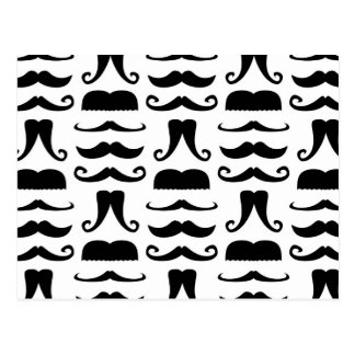 Mustache Print Postcard