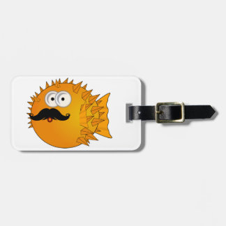 Mustache Puffer Fish Travel Bag Tags