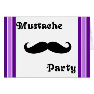 Mustache Purple Invitations