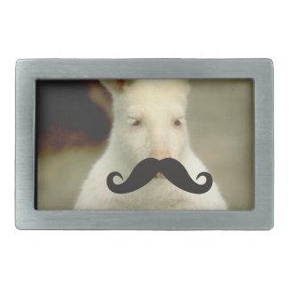 Mustache Qpc Template Rectangular Belt Buckles