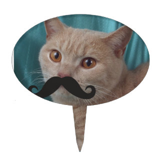 Mustache Qpc Template Cake Picks