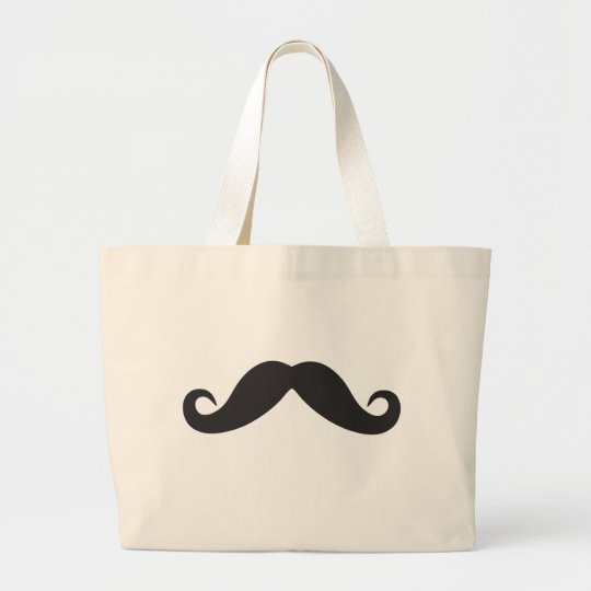 Mustache Qpc Template Large Tote Bag