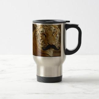 Mustache Qpc Template 15 Oz Stainless Steel Travel Mug