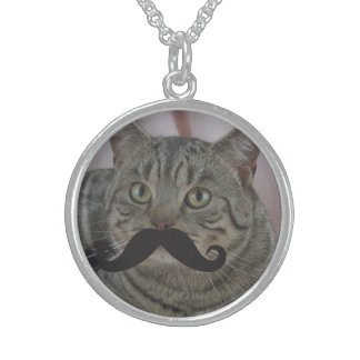 Mustache Qpc Template Sterling Silver Necklaces