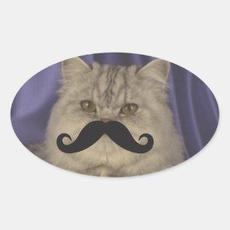 Mustache Qpc Template Oval Sticker