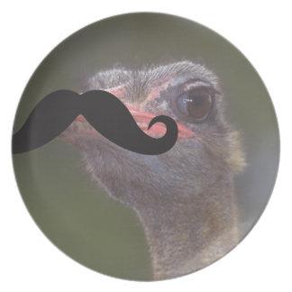 Mustache Qpc Template Party Plate