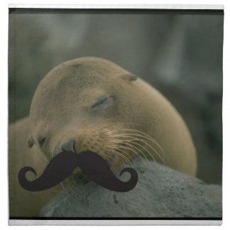 Mustache Qpc Template Printed Napkin