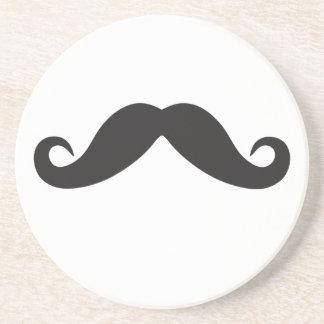 Mustache Qpc Template Sandstone Coaster