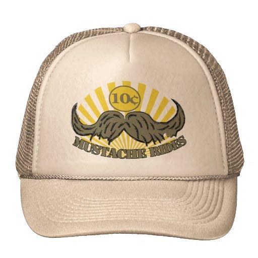 Mustache ride trucker hat
