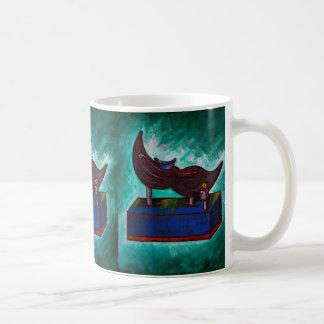 Mustache Ride Twisted Funny Painting Original Art Coffee Mug