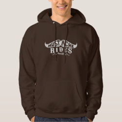 Men's Basic Hooded Sweatshirt with Wonderful World of Mustaches design