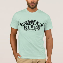 Men's Basic American Apparel T-Shirt with 50c Mustache Rides design