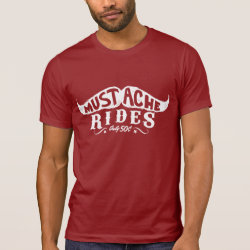 Men's Alternative Apparel Basic Crew Neck T-Shirt with Wonderful World of Mustaches design
