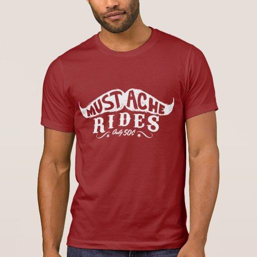 Mustache Rides Tshirt