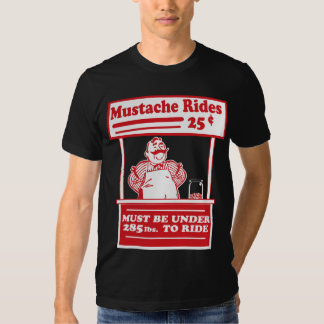 Mustache Rides Tshirts