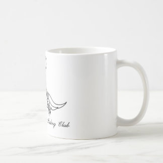 mustache riding club coffee mug