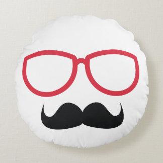 Mustache Round Pillow
