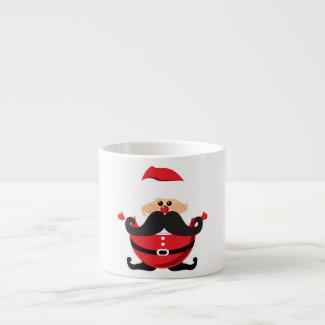 Mustache Santa Claus Espresso Mugs