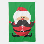 Mustache Santa Claus Hand Towel