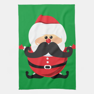 Mustache Santa Claus Kitchen Towels