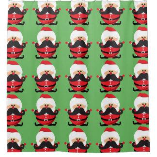 Mustache Santa Claus Shower Curtain