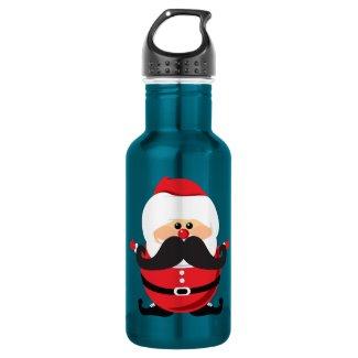Mustache Santa Claus