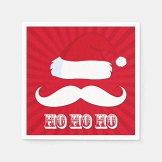 Mustache Santa Red Napkin