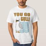 Mustache Seagull You Go Gull T-shirt