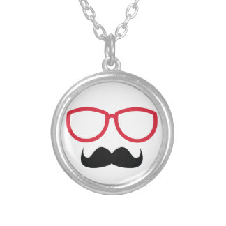Mustache Silver Plated Necklace