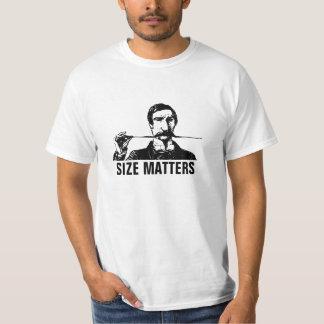 Mustache Size Matters T Shirts