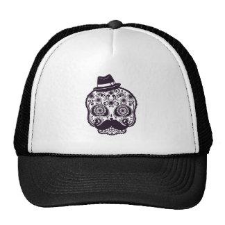 Mustache Skull Trucker Hat