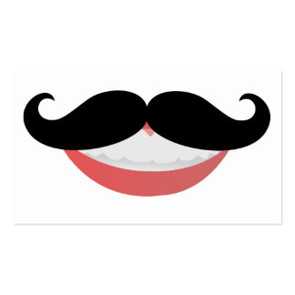 Mustache Smile Business Cards