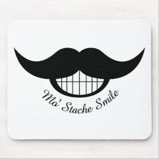 Mustache Smile Mouse Pad