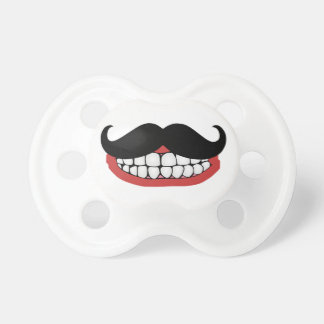 Mustache Smile Baby Pacifier