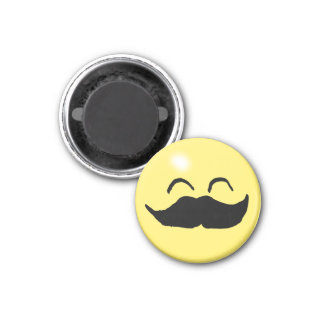 Mustache Smiley 2 Magnet