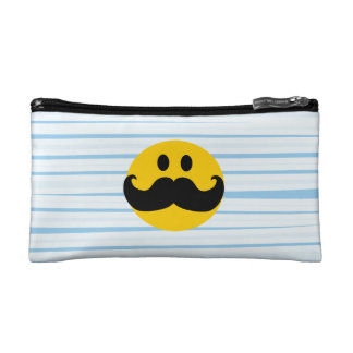 Mustache Smiley Cosmetic Bags