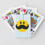 Mustache Smiley Bicycle Playing Cards
