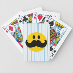 Playing Cards with Mustache with Monocle Smiley design