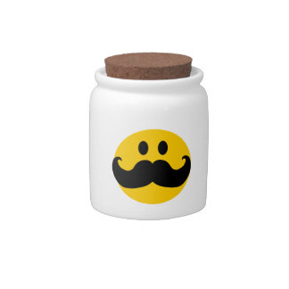 Mustache Smiley Candy Jars