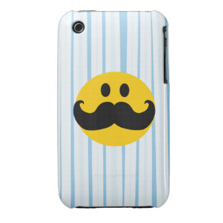 Mustache Smiley iPhone 3 Cases