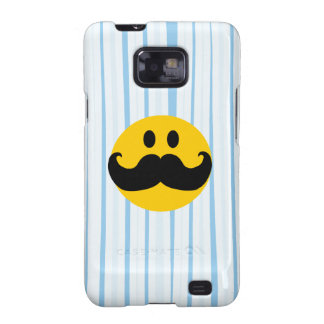 Mustache Smiley Galaxy S2 Cases