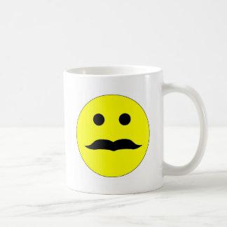 Mustache Smiley Coffee Mug