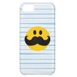Case-Mate Barely There iPhone 5C Case with Mustache with Monocle Smiley design