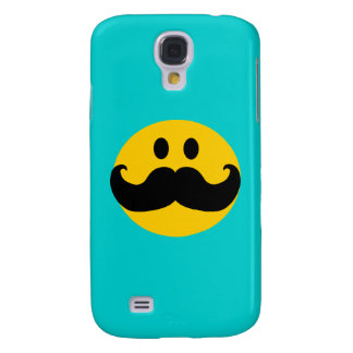 Mustache Smiley Customizable background color Samsung Galaxy S4 Cover