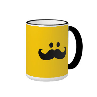 Mustache Smiley (Customizable background color) Mugs